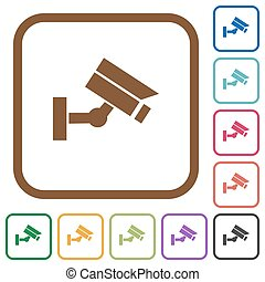 Security camera simple icons