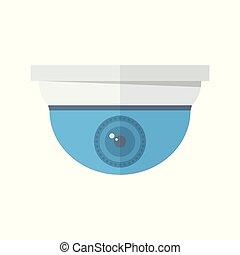 Security camera, street security, hidden camera. Modern...