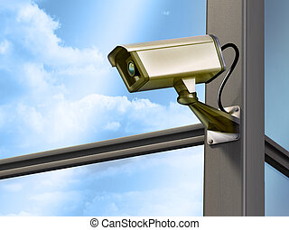 Security camera - Surveillance cam on a modern building...