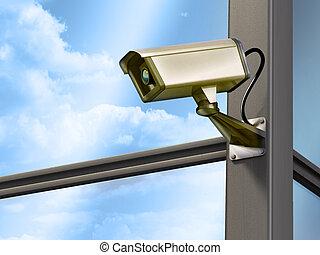 Security camera - Surveillance cam on a modern building...