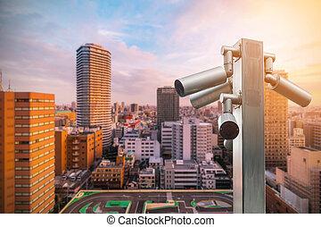 security camera surveillance (CCTV)