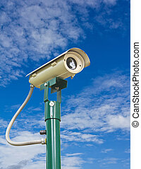 Security camera with clipping path