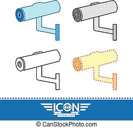 security cctv camera icon