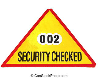 Security checked - Security checked isolated