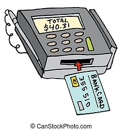 Security Chip Credit Card Machine
