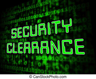 Security Clearance Cybersecurity Safety Pass 3d Illustration