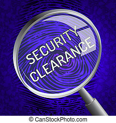 Security Clearance Cybersecurity Safety Pass 3d Rendering