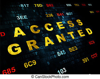 Security concept: Access Granted on Digital background -...