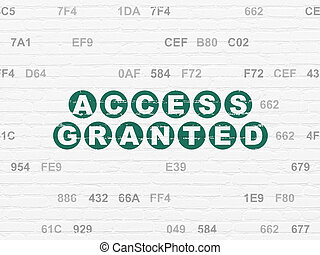 Security concept: Access Granted on wall background