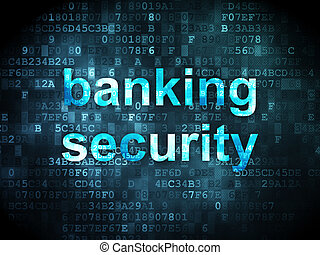 Security concept: Banking Security on digital background