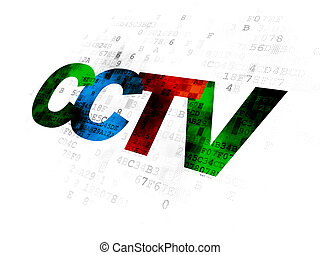 Security concept: CCTV on Digital background