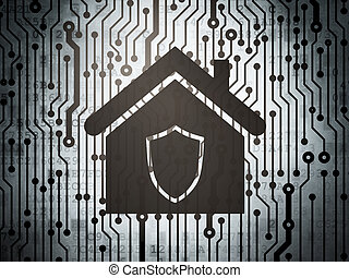 Security concept: circuit board with Home