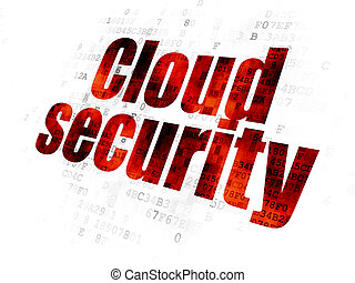 Security concept: Cloud Security on Digital background