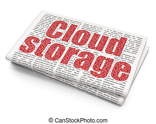 Security concept: Cloud Storage on Newspaper background