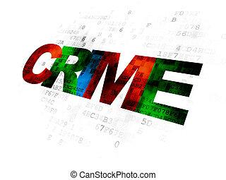 Security concept: Crime on Digital background