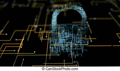 security., concept, cyber