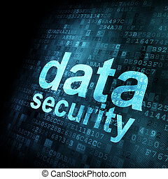Security concept: Data on digital screen