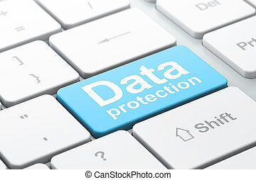 Security concept: Data Protection on keyboard background