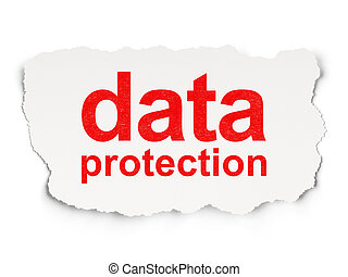 Security concept: Data Protection on Paper background