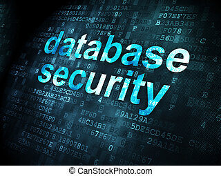 Security concept: Database Security on digital background