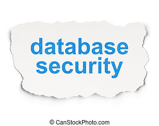 Security concept: Database Security on Paper background