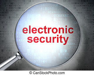 Security concept: Electronic Security with optical glass