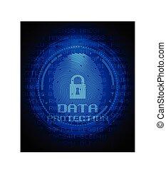 fingerprint and data protection on digital screen
