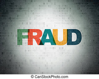 Security concept: Fraud on Digital Data Paper background