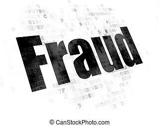 Security concept: Fraud on Digital background