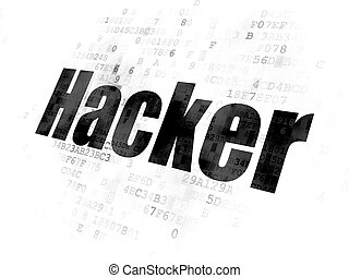 Security concept: Hacker on Digital background