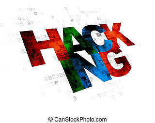 Security concept: Hacking on Digital background