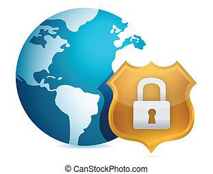 Security concept illustration design