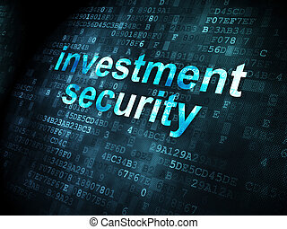 Security concept: Investment Security on digital background...