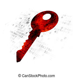 Security concept: Key on Digital background