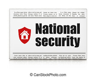 Security concept: newspaper with National Security and Shield