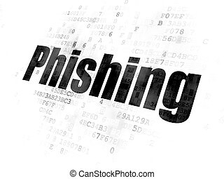 Security concept: Phishing on Digital background