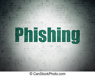 Security concept: Phishing on Digital Data Paper background