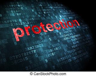 Security concept: Protection on digital background