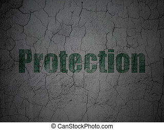 Security concept: Protection on grunge wall background