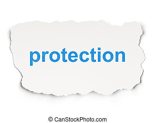 Security concept: Protection on Paper background