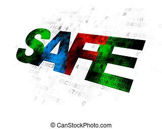Security concept: Safe on Digital background