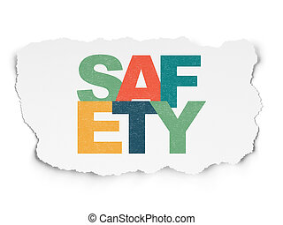 Security concept: Safety on Torn Paper background