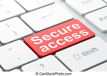Security concept: Secure Access on computer keyboard background