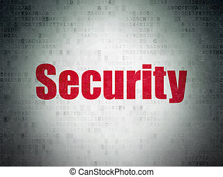 Security concept: Security on Digital Data Paper background