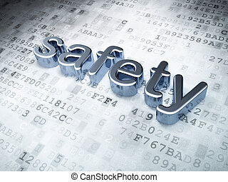 Security concept: Silver Safety on digital background