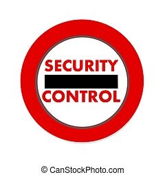 security control icon in white background