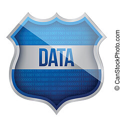 Security Data shield illustration