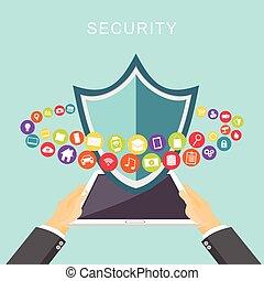 security., daten, protection., antivirus.