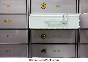 Security deposit box in a safe room