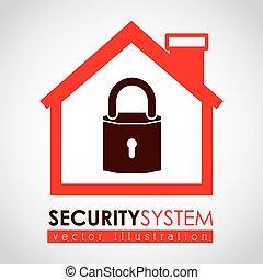 Security design over white background,vector illustration